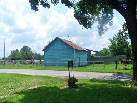 Barn across the road