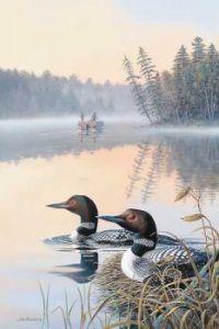 Seasons of the Lake-Spring-Loons by Jim Kasper