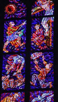 Another Stain Glass Window in Prague 2002