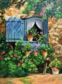 Cozy Window Oil on Canvas by Victor Arriola