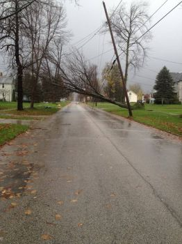 Damage from Sandy, Jefferson, OH