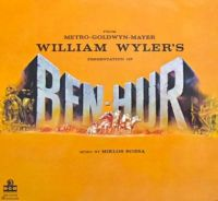BEN-HUR   1959 SOUNDTRACK LP COVER  CHARLTON HESTON