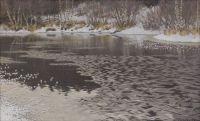 Gustaf Fjaestad: Hard Rime on Lake Racken ca1897