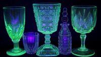 retro glass goblets