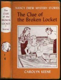 """Nancy Drew Mystery Stories """"The Clue Of The Broken Locket"""" By Carolyn Keene"""