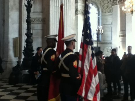 US Marines at St Paul's Cathedral, London, for Thanksgiving Day Service