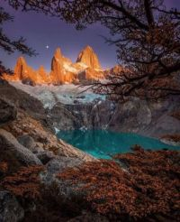 Monte Fitz Roy is a mountain in Patagonia