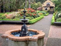 Fountain and garden, State Park, Oregon