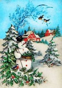 The Snow Man By the Pines