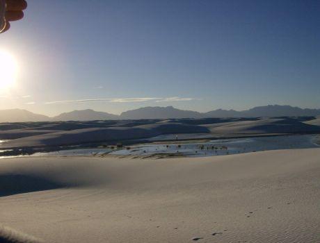 White Sands at Dusk