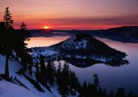 Craterlake at sunset