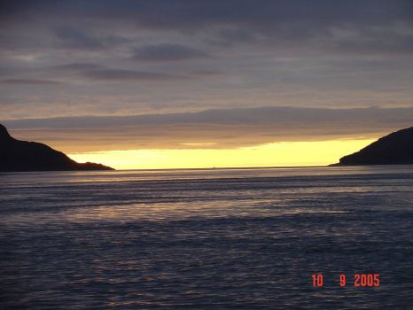 Sunset over Corryvreckan