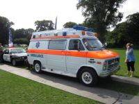 old Ambulance at event