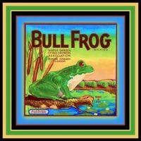 Fruit Labels Depicting Frogs