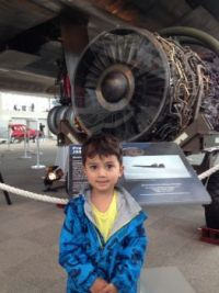 Great Grandson at the Museum of Flight