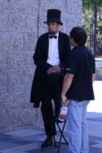 Honest Abe takes a breather