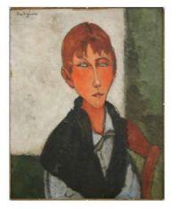 'The Mistress' 1917-  Amedeo Modigliani - Expressionism style.