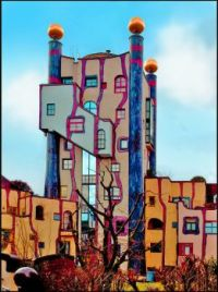 Hundertwasser Building in Plochingen