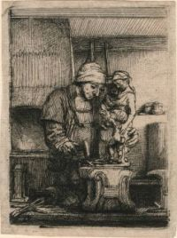 Rembrandt Harmenszoon van Rijn--The Goldsmith, 1655