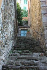 Little blue door, Cinque Terre in Italy