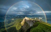 Rainbow over Schafberg, Austria
