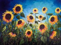 Bursting sunflowers