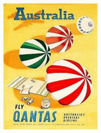 Vintage travel ad - QANTAS