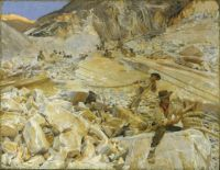 John Singer Sargent, Bringing Down Marble from the Quarries to Carrara (1911)