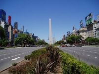 Obelisk in the main street of Buenos Aires, Argentina