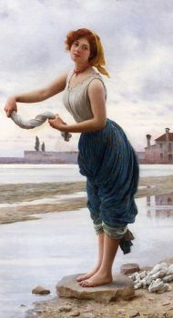 "Eugene de Blaas, ""The Lavender"" 1912"