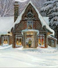 Cozy house in winter