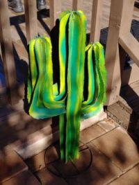 Iron Cactus Sculpture