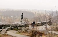 The Battle Of Gettysburg Looking Down Into The Valley Of Death From Little Roundtop