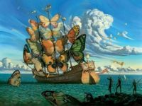 Ship With Butterfly Sails