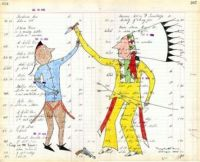 Ledger Art by George Levi (Southern Cheyenne)