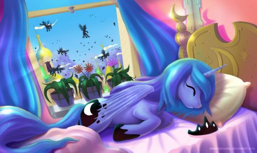 MLP: Princess Luna Is Sleeping Angel by alexmakovsky