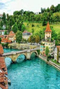 The River Aare -- Bern, Switzerland...