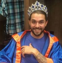 Almost as flamboyant as Wilmer, and yet what a hipster would look like if elected king.