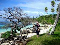 Lynne on their Fiji trip...