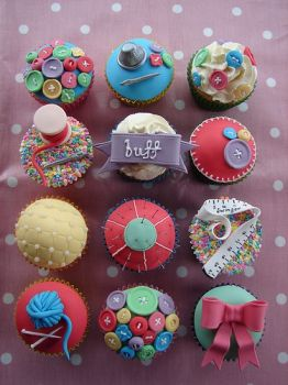 Sewing Box Cupcakes