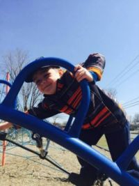 Grandson William playing at the park