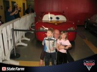 the kids and  I with mcqueen
