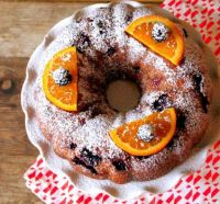 Blackberry Bunt Cake with Orange Glaze