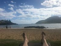 Son-in-law's feet and beach in Hawaii!