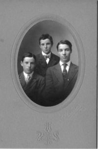 Arthur (my grandfather, left), Don (Bill at top) & Norman Thackery