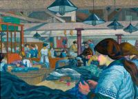 Charles Ginner_ the dress making factory