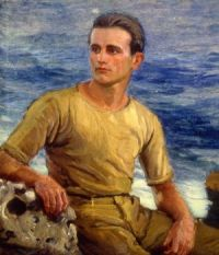 Joseph Kleitsch (Hungarian/American, 1885–1931), Portrait of Nelson Griffith, Lifeguard (1922)