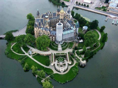 Amazing View of Schwerin Castle, Germany