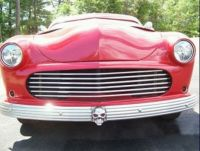 1951 Ford Victoria Red chopped bar grill view 2005-1-16