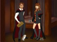 Remus and I at school